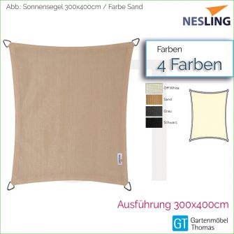 Nesling Sonnensegel COOLFIT Rechteck 300x400 cm