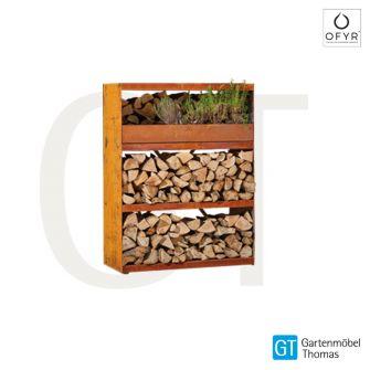 OFYR Wood Storage Cabinet Corten (B100xH131xT45)