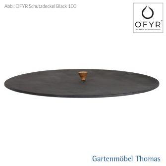 OFYR Schutzdeckel Black 100 cm mit Holzgriff