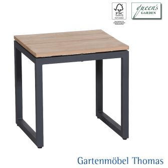 gartenm bel thomas queens garden talo hocker beistelltisch 40x45x46 aus aluminium anthrazit. Black Bedroom Furniture Sets. Home Design Ideas