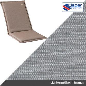 gartenm bel thomas sieger auflage hochlehner grau 124x53x4cm hier online kaufen. Black Bedroom Furniture Sets. Home Design Ideas