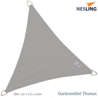 Nesling Sonnensegel DREAMSAIL Dreieck 500x500x500 cm Farbe Grau