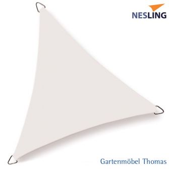 Nesling Sonnensegel COOLFIT Dreieck 90° 400x400x570 cm / Farbe Off White