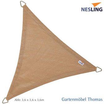 Nesling Sonnensegel COOLFIT Dreieck 500x500x500 cm Farbe Sand