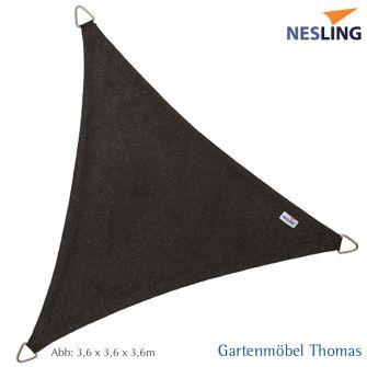 Nesling Sonnensegel COOLFIT Dreieck 90° 400x400x570 cm Farbe Schwarz