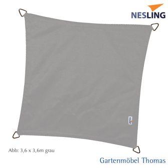 Nesling Sonnensegel DREAMSAIL Quadrat 500x500 cm Farbe Grau
