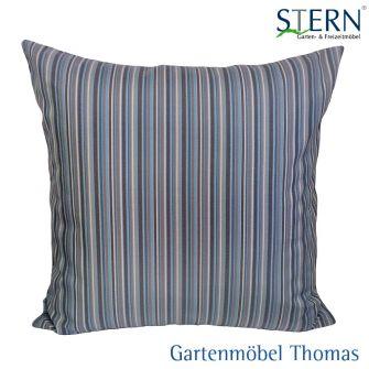 Stern DEKOKISSEN 30x45x10 - 100% Sunbrella Polyacryl Streifen blau