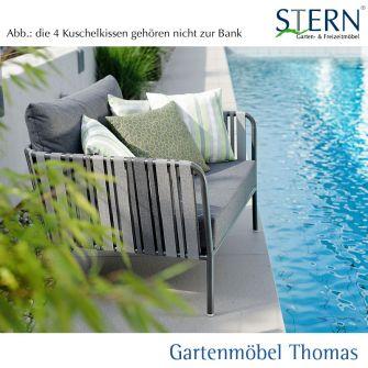 Stern SPACE Loungesessel - Aluminium anthrazit - Textilen grau - Sitz- Rückenkissen seidengrau