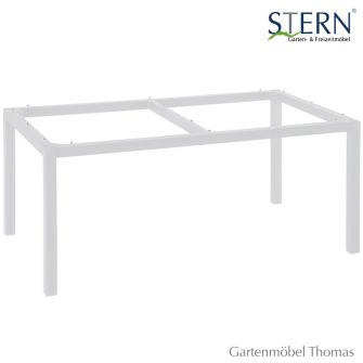 gartenm bel thomas stern tischgestell 130x80cm alu wei hier online kaufen. Black Bedroom Furniture Sets. Home Design Ideas