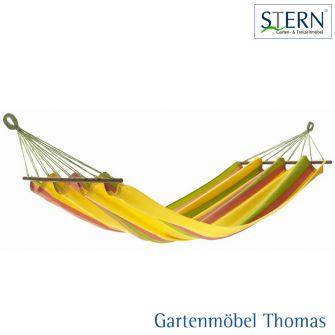 Stern ALEGRIA Stabhängematte / Streifen rosa grün gelb