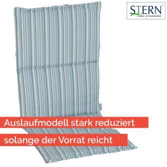Stern Sitz- Rückenkissen 93x46x2 Dekor Streifen Aqua