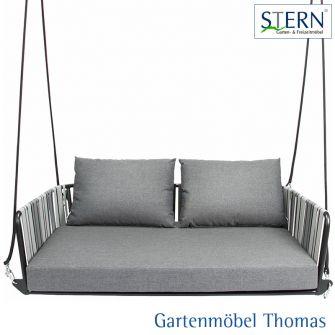 Stern SPACE 2-Sitzer Schaukel - Aluminium anthrazit - Textilen grau - Sitz- Rückenkissen seidengrau