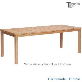 Traditional Teak FLORIS Tisch 213x91 cm Teakholz
