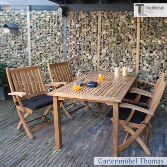 Traditional Teak THEODORA Tisch 180x90 cm Teakholz