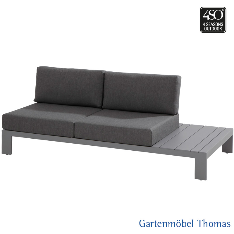 Gartenmöbel Thomas | 4 Seasons OCEAN Lounge 2-Sitzer Ablage links ...