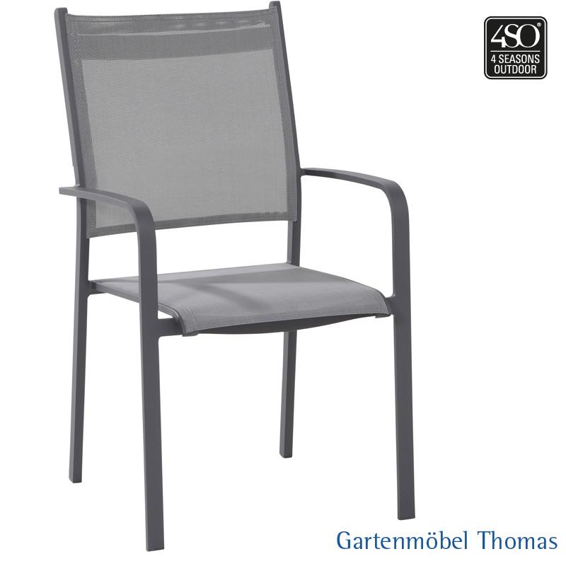 Gartenmöbel Thomas | 4 Seasons TOSCA Hochlehner Alu-Anthrazit ...