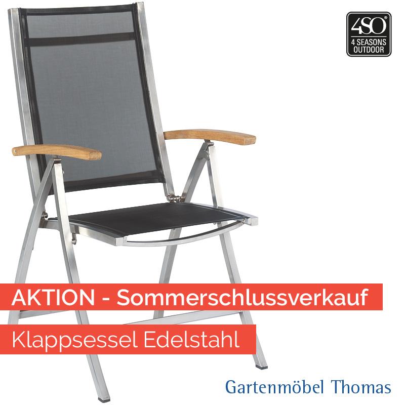 Gartenmöbel Thomas | 4 Seasons NEXXT Klappsessel Edelstahl ...