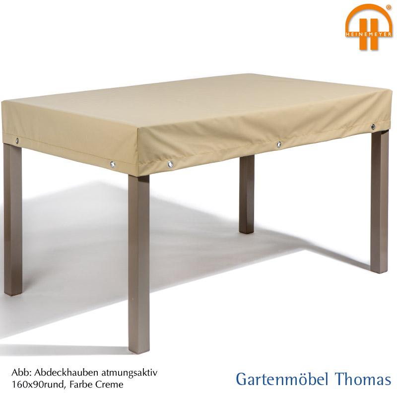Schutzhülle Gartentisch 220x100.Schutzhülle Premium Tischplatte 220x100cm Farbe Creme Atmungsaktiv Mit Gummizug