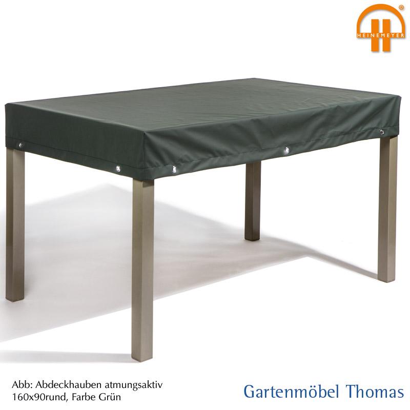 Abdeckhaube Tisch 160x100x15cm Farbe Grun Atmungsaktiv Mit Osen