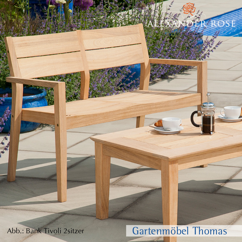 Gartenmöbel Thomas | Alexander Rose TIVOLI 2-Sitzer Bank Roble Holz ...