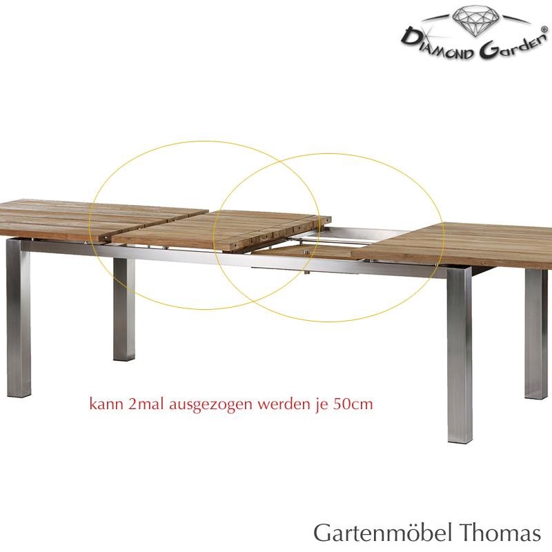 Gartenmöbel Thomas | Diamond Garden MILANO Ausziehtisch 220/320 ...