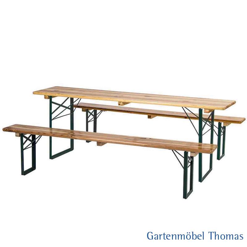 Gartenmöbel Thomas | Biergartengarnitur 1 Tisch 220x70cm 2 Bänke ...