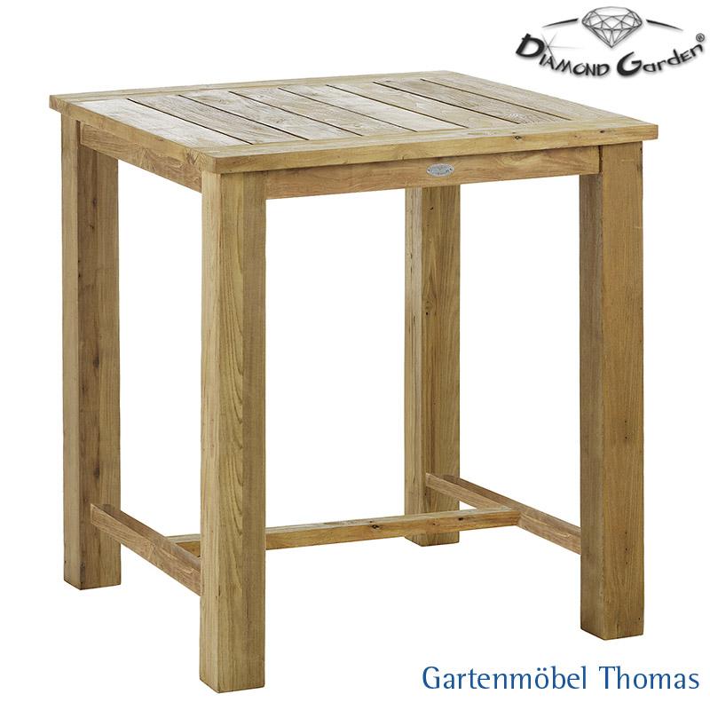 Gartenmöbel Thomas | Diamond Garden BELMONT Bartisch 90x90 Old Teak ...