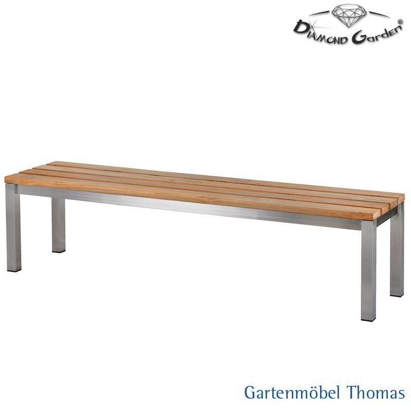 Gartenmöbel Thomas | Diamond Garden PIERO Bank 180x45 Edelstahl ...