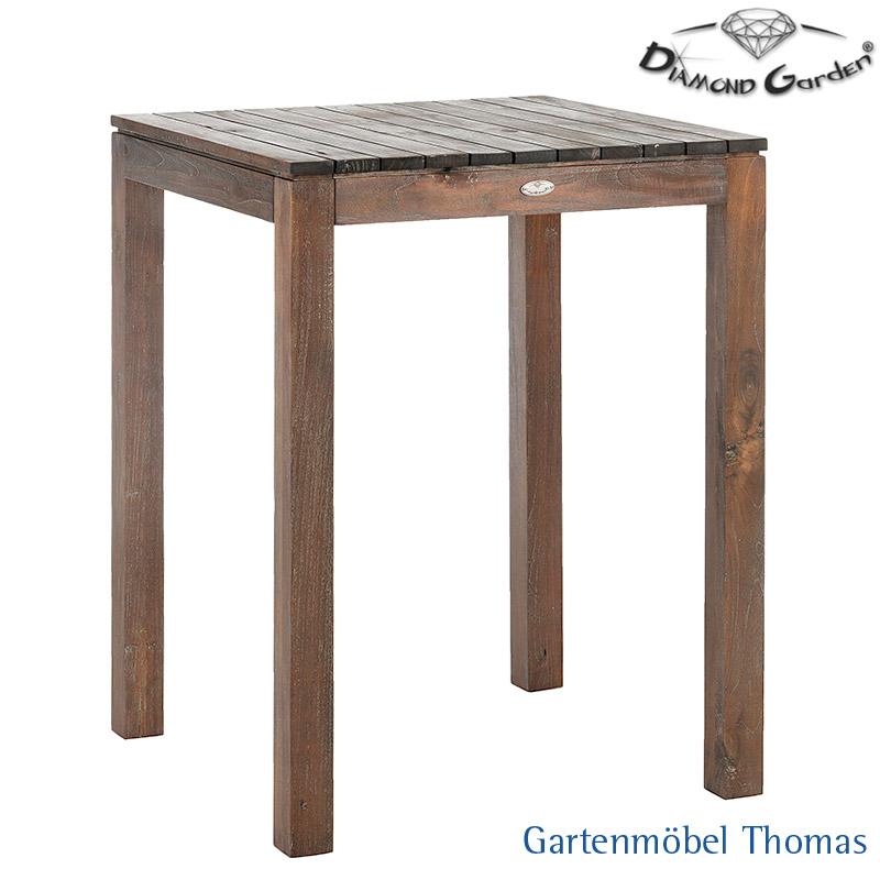 Gartenmöbel Thomas | Diamond Garden TORINO Bartisch 80cm Old Teak ...