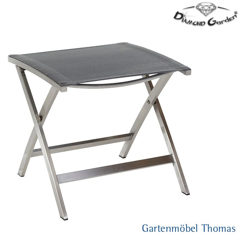Gartenmöbel Thomas | Diamond Garden VENEDIG Fußhocker Edelstahl ...
