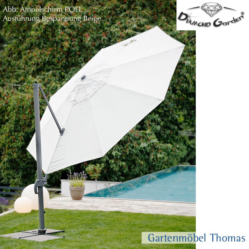 Gartenmöbel Thomas | Diamond Garden POEL Ampelschirm 350 Rund ...