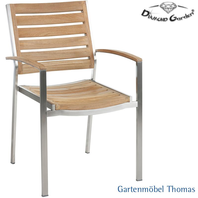 Gartenmöbel Thomas | Diamond Garden TREVISO Stapelsessel Edelstahl ...