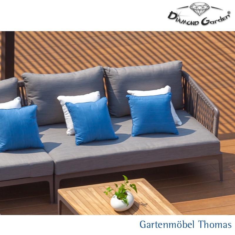 Gartenmöbel Thomas | Diamond Garden CALAIS Loungeecke links Alu ...