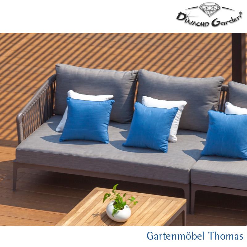 Gartenmöbel Thomas | Diamond Garden CALAIS Loungeecke rechts Alu ...