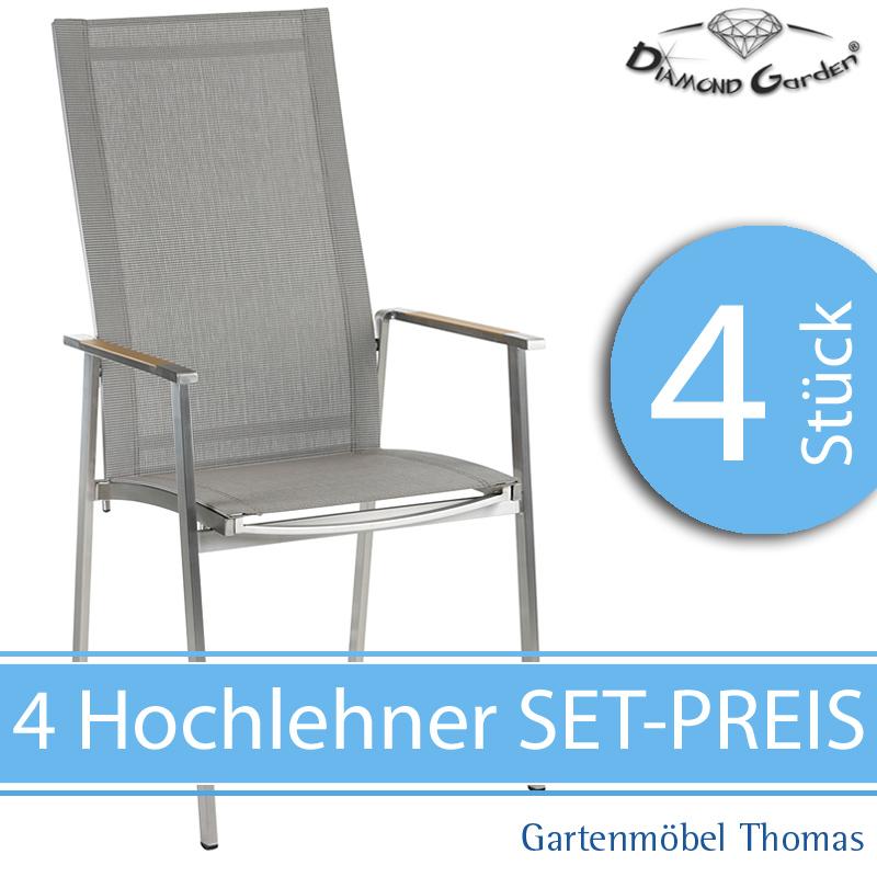 Gartenmöbel Thomas | Diamond Garden MONACO Set 4 Stapelstuhl ...