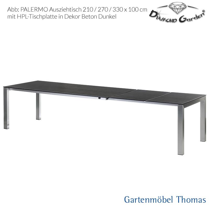 Tisch Eiche Geräuchert gartenmöbel garden palermo ausziehtisch 210 270