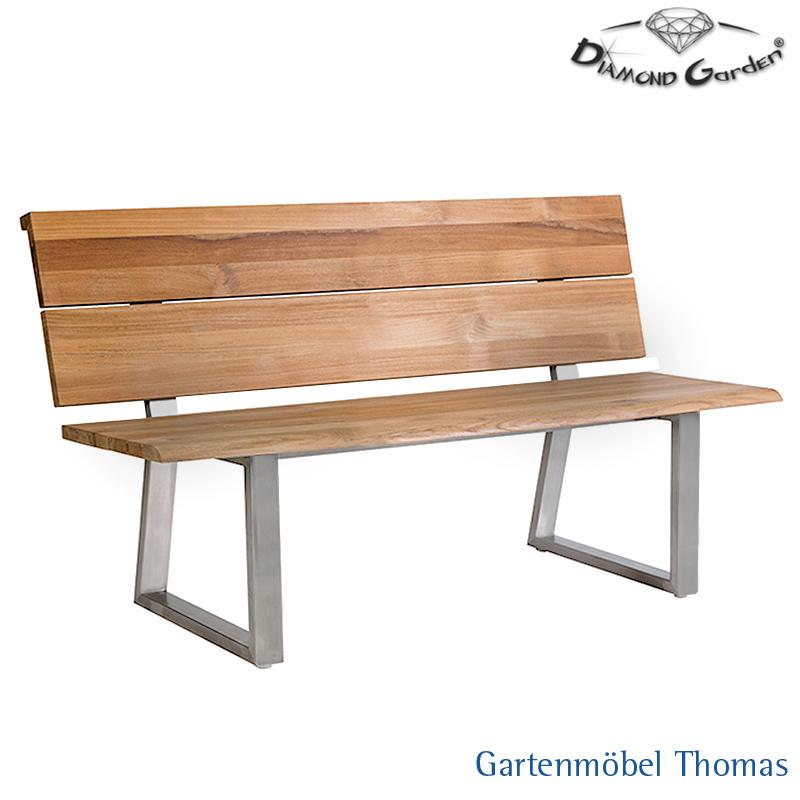 Gartenmöbel Thomas | Diamond Garden PISA Sitzbank 2sitzer Edelstahl ...