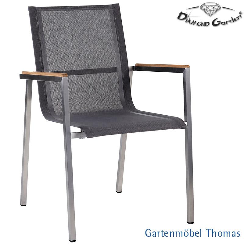 Gartenmöbel Thomas | Diamond Garden RIMINI Sessel Edelstahl / Bezug ...