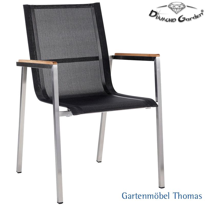 Gartenmöbel Thomas   Diamond Garden RIMINI Sessel Edelstahl / Bezug ...
