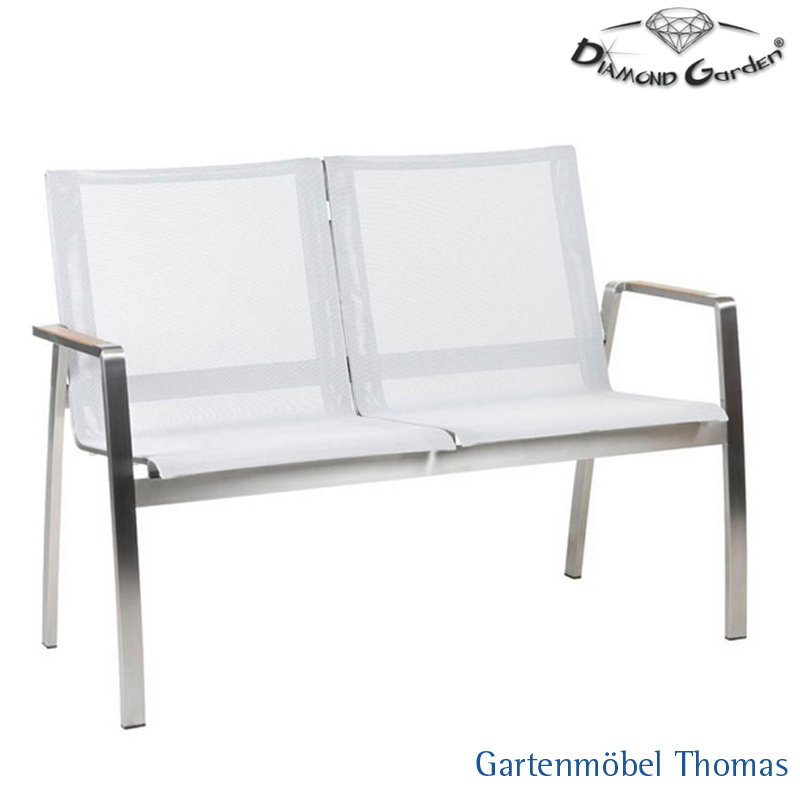 Gartenmöbel Thomas   Diamond Garden VENEDIG 2sitzer Bank Edelstahl ...