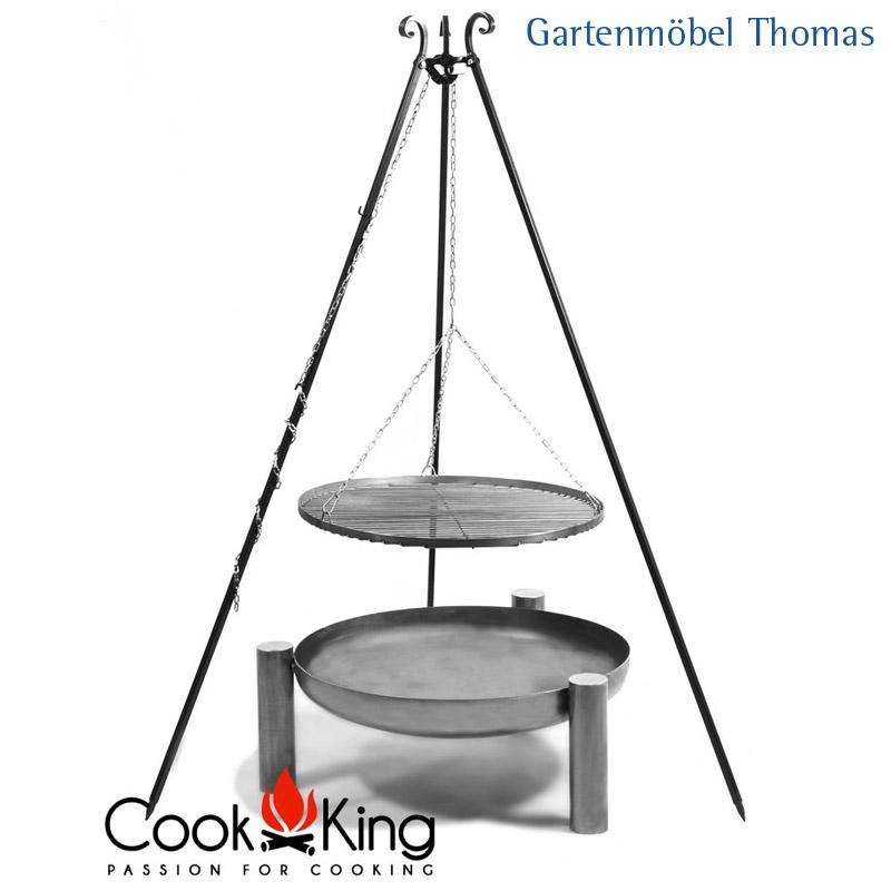 gartenm bel thomas cook king schwenkgrill stahl 50cm feuerschale palma 60cm hier online kaufen. Black Bedroom Furniture Sets. Home Design Ideas