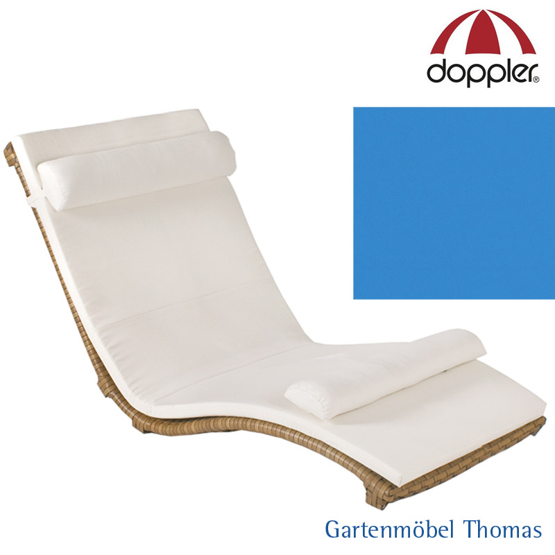 Gartenmöbel Thomas   Doppler HEAVEN SWING Liegenkissen Doppel Blau ...