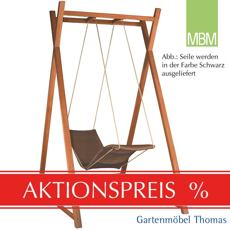 Gartenmöbel Thomas | MBM HEAVEN SWING Liege Single Geflecht Tobacco ...