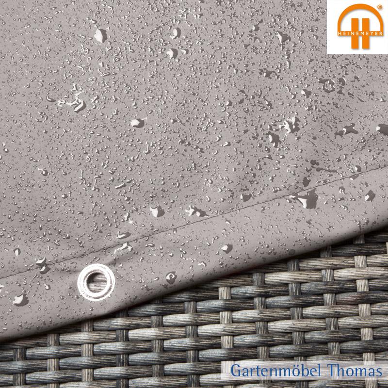 gartenm bel thomas schutzh lle abdeckhaube tisch 180x95x15cm farbe grau atmungsaktiv mit sen. Black Bedroom Furniture Sets. Home Design Ideas