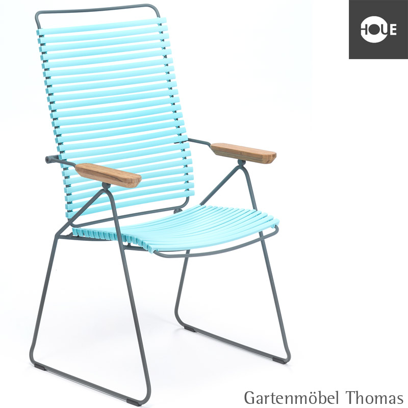 gartenm bel thomas houe click hochlehner move mint gestell metall graphit position chair. Black Bedroom Furniture Sets. Home Design Ideas