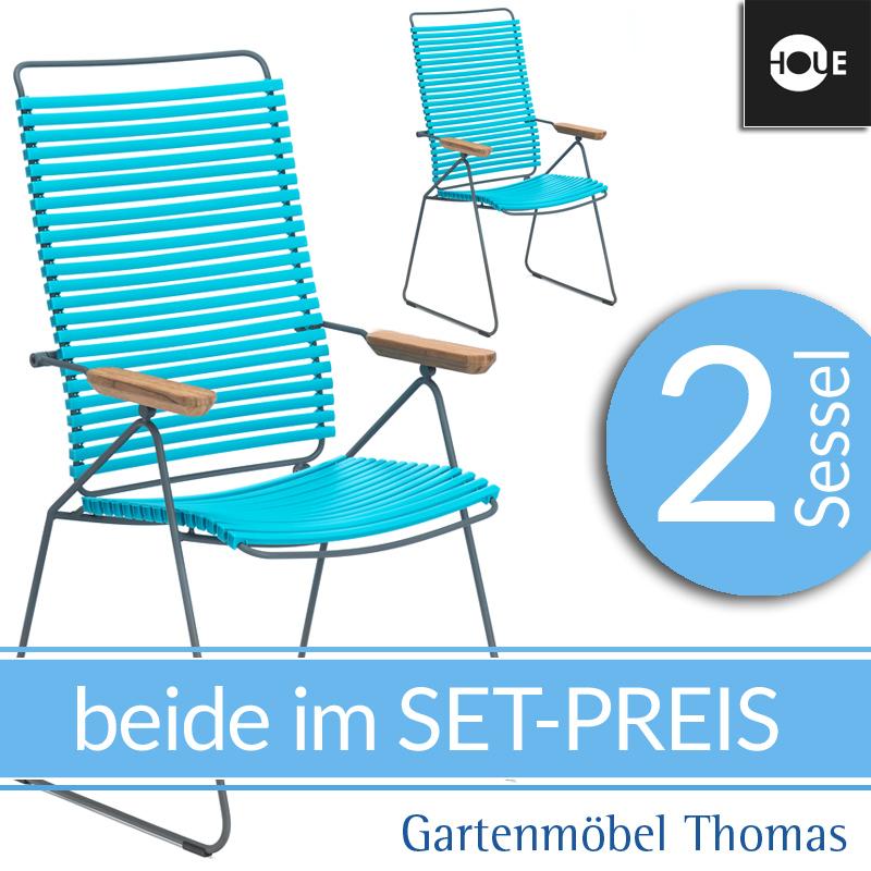 Gartenmöbel Thomas | HOUE Click SET - 2 Hochlehner Move Türkis ...