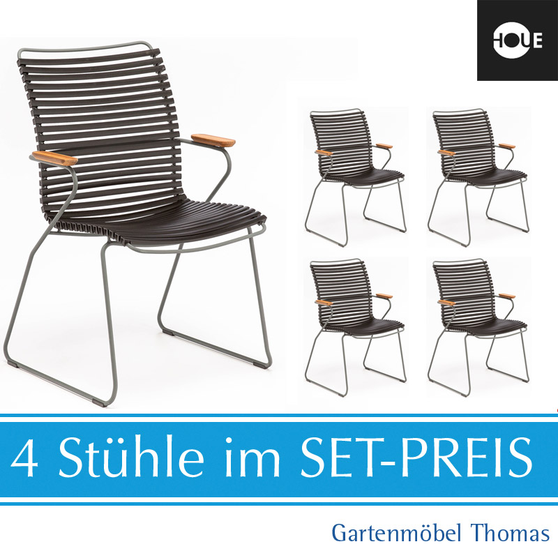 HOUE Click Hochlehner 4er SET incl. Abdeckhaube Dining Chair Tall Back