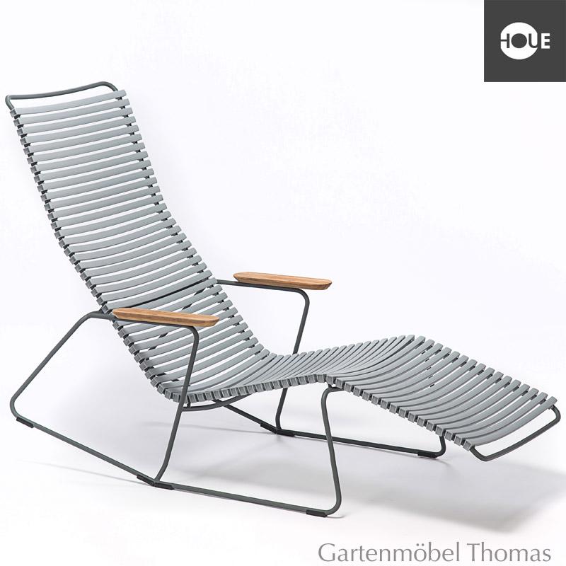Gartenmöbel Thomas | HOUE Click Relaxliege Grau - Gestell Metall ...