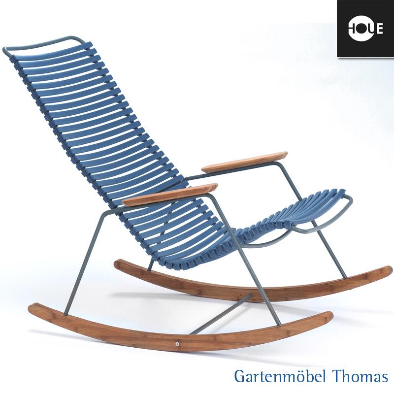 Gartenmöbel Thomas | HOUE Click Schaukelstuhl Dunkelblau - Gestell ...