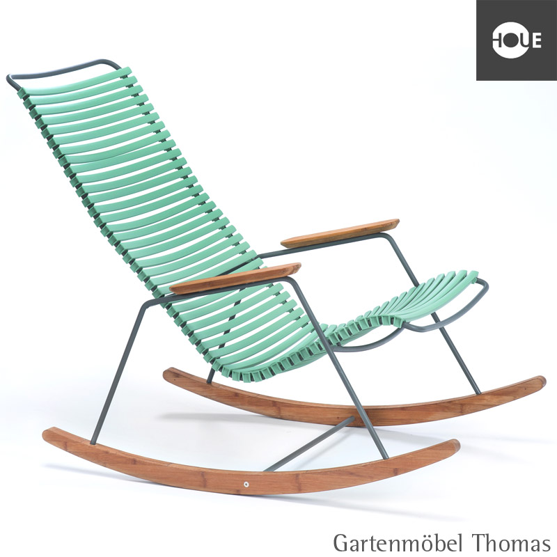 gartenm bel thomas houe click schaukelstuhl hellgr n gestell metall graphit rocking chair. Black Bedroom Furniture Sets. Home Design Ideas